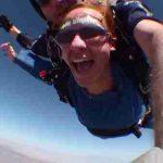 Casey Powers sky diving